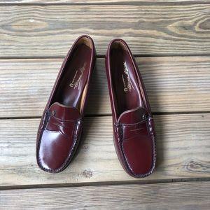 7629e1e4d7b Etienne Aigner Shoes - Vintage Etienne Aigner Burgundy Penny Loafers
